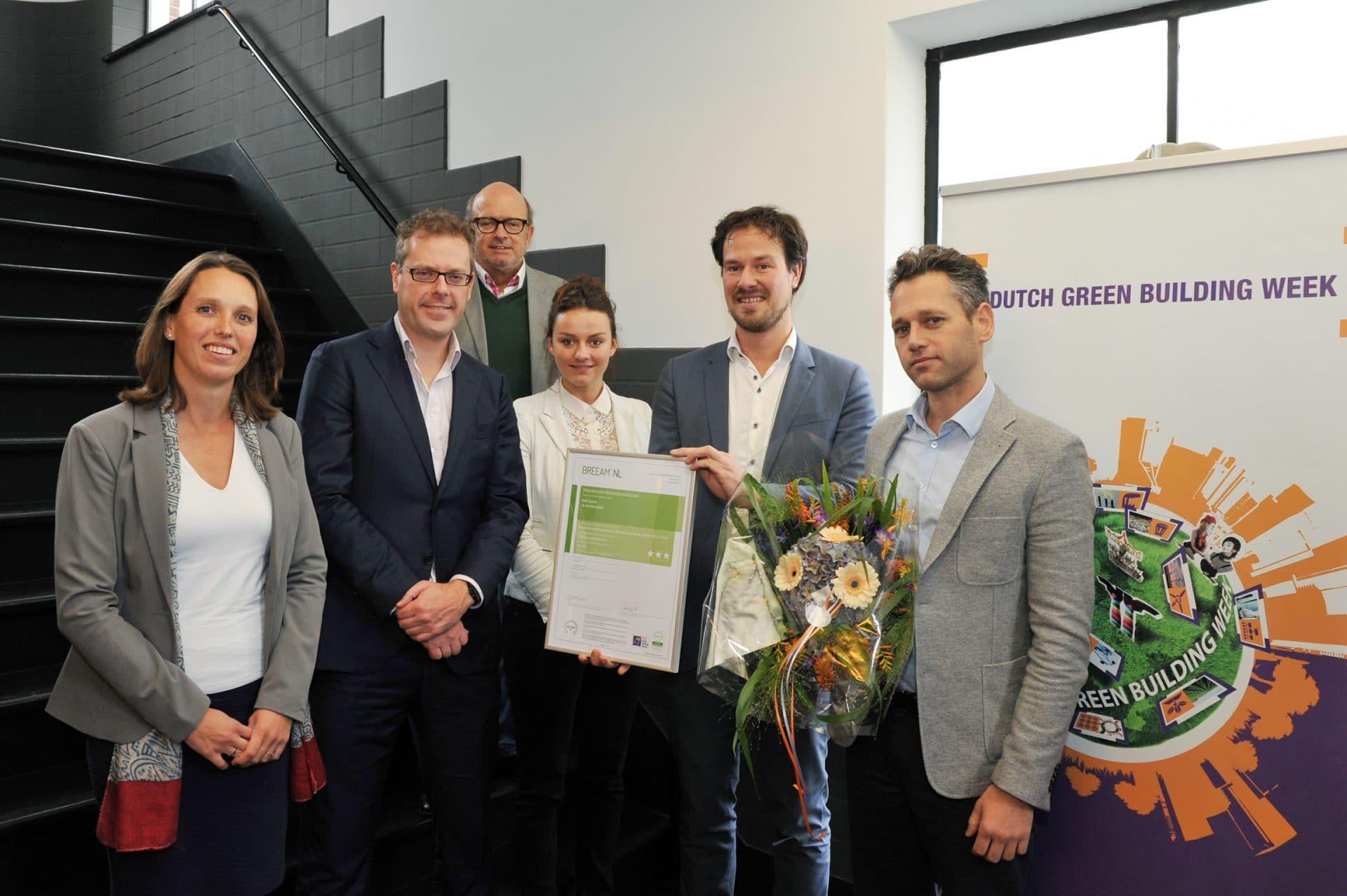 Uitreiking BREEAM-NL certificaat voor Hotel W Amsterdam op de DGBC 2015
