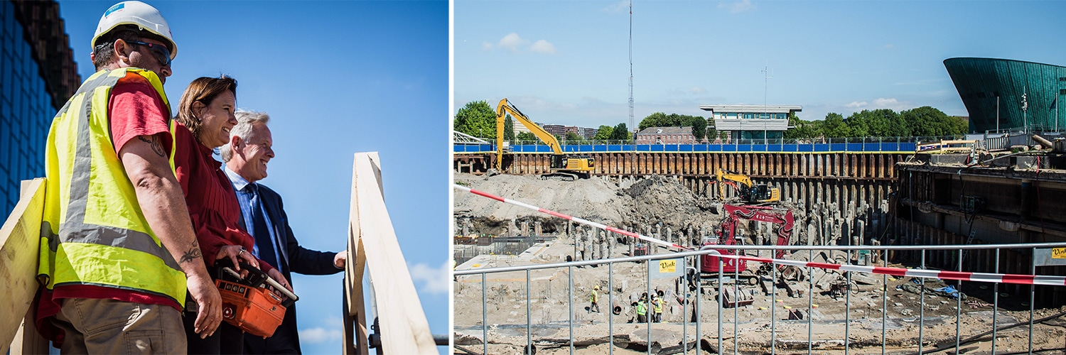 Project Oosterdokseiland (ODE) - start bouw