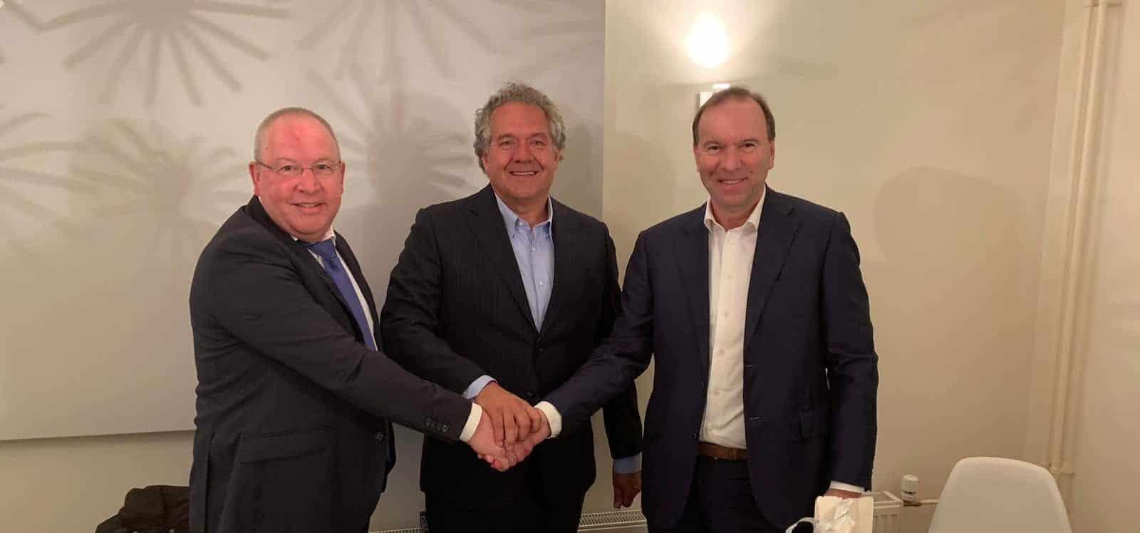 Louis van Brakel, Eric Winter en Berthil Dolmans